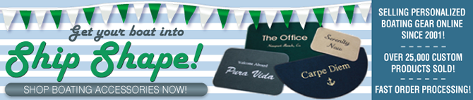 Personalized Boat Mats and More