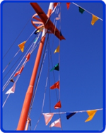 Selection of boat pennant flags to decorate your boat.