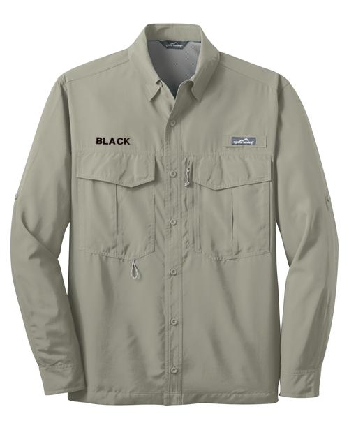 Eddie bauer long sleeve performance fishing shirt for Long sleeve performance fishing shirts