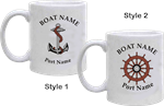 Personalized Ceramic Mugs (Set of 6, White)