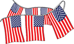 Stars and Stripes American Flag Boat Pennant Strings