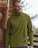 Eddie Bauer® - Grid Fleece Pullover - Enjoy the outdoors, Eddie Bauer Style