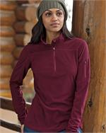 Eddie Bauer® -Ladies Quarter-Zip Grid Fleece Pullover