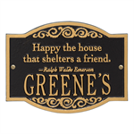 Emerson Quote Personalized Plaque - Black / Gold