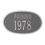 Founded Date Personalized Plaque - Pewter / Silver