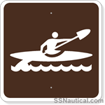 Kayaking - 24x24 Marine Sign