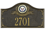 Navy Address Plaque - Military Family - 1 Line