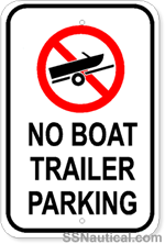 No Boat Trailer Parking