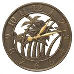 Palm Wall Clock shown in French Bronze