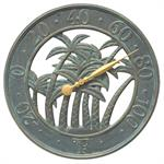 Palm Wall Thermometer shown in Bronze Verdigris finish