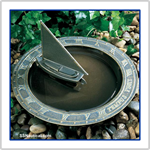 Sailboat Sundial Birdbath - Weathered Bronze