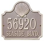 Shell Address Plaque shown in Taupe / Ivory