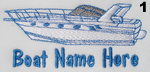 Express Boat Embroidery Design