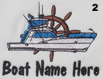 Boat and Wheel Embroidery Design