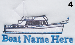 Trawler Boat Embroidery Design