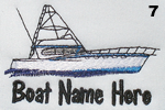 Offshore Fishing Boat Embroidery Design