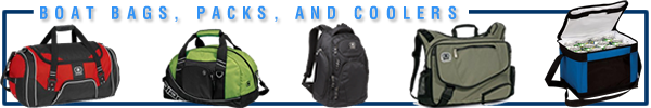 Boating Bags, Back Packs, Coolers, Golf Bags, and More