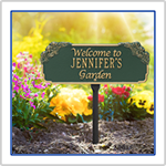 Garden Plaques Gifts, Aluminum plaques for gardens.