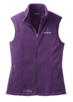 Eddie Bauer® - Ladies Fleece Vest - Blackberry