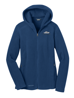 Eddie Bauer® Ladies Hooded Full-Zip Fleece Jacket - Deep Sea Blue