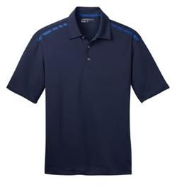 Navy and Signal Blue Dri-FIT Graphic Polo