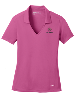 Nike Golf Ladies Dri-FIT Vertical Mesh Polo - Pink Fire