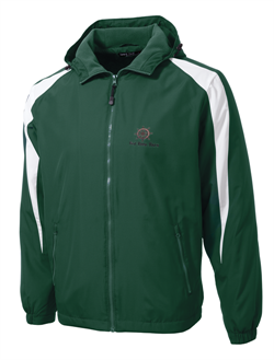 Sport-Tek® - Youth Fleece-Lined Colorblock Jacket - Forest Green