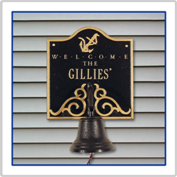 Anchor Bell Welcome - Black with Gold Lettering