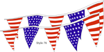 Americana Boat Pennant String - Stars and Stripes Flags