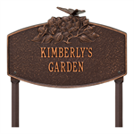 Butterfly Blossom Garden Personalized Lawn Plaque - Antique Copper