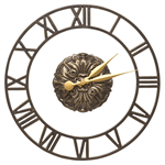 Cambridge Floating Ring Indoor Outdoor Wall Clock - French Bronze