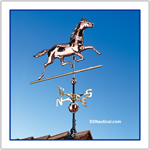 Copper Horse Weathervane Polished Finish