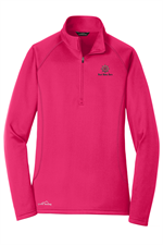 Eddie Bauer - Ladies Half-Zip Base Layer Fleece - Pink Lotus