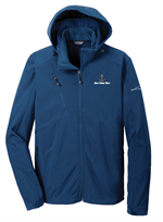 Eddie Bauer® - Hooded Soft Shell Parka - Shown in Admiral Blue.