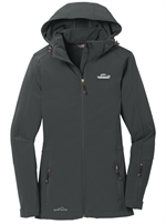 Eddie Bauer® - Ladies Hooded Soft Shell Parka - Grey Steel