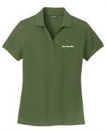 Eddie Bauer Ladies Cotton Pique Polo - Shown in Evergreen