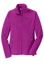 Eddie Bauer® - Ladies Full-Zip Microfleece Jacket - Deep Magenta
