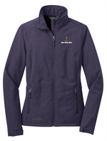 Eddie Bauer Ladies Shaded Crosshatch Soft Shell Jacket Deep Wisteria Purple