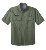 Eddie Bauer® Short Sleeve Fishing Shirt with Free Embroidery