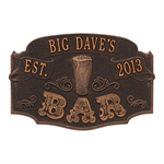 Established Bar Plaque - Oil Rubbed Bronze