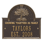 Family Tree Personalized Plaque - Bronze / Gold