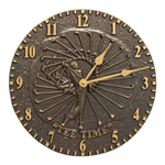 Golfer Indoor Outdoor Wall Clock - French Bronze