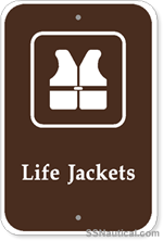Life Jackets with Symbol- 12x18 Marine Sign