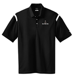 Nike Golf - Dri-FIT Shoulder Stripe Polo - Black / White
