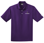 Nike Golf Dri-FIT Micro Pique Polo with Embroidery Design - Night Purple