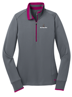Nike Golf - Ladies Dri-FIT Half-Zip Cover-Up - Dark Grey / Sport Fushia