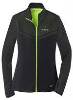 Nike Golf - Ladies Therma-FIT Hypervis Full-Zip Jacket - Black / Chartreuse