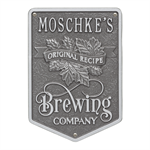 Original Recipe Brewing Company Beer Plaque - Pewter / Silver