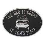 Personalized Grill Plaque - Black / Silver