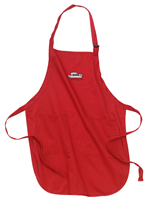 Port Authority® Full-Length Apron with Pockets - Red